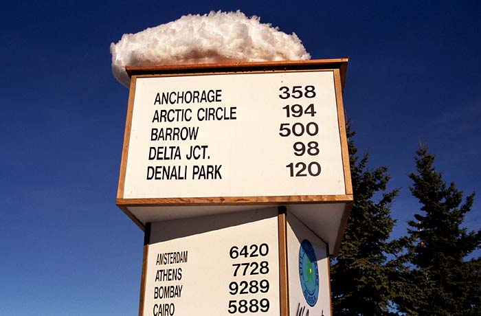 Distances from Fairbanks